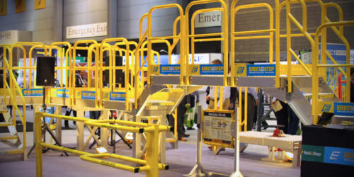 erectastep crossover stairs at modex