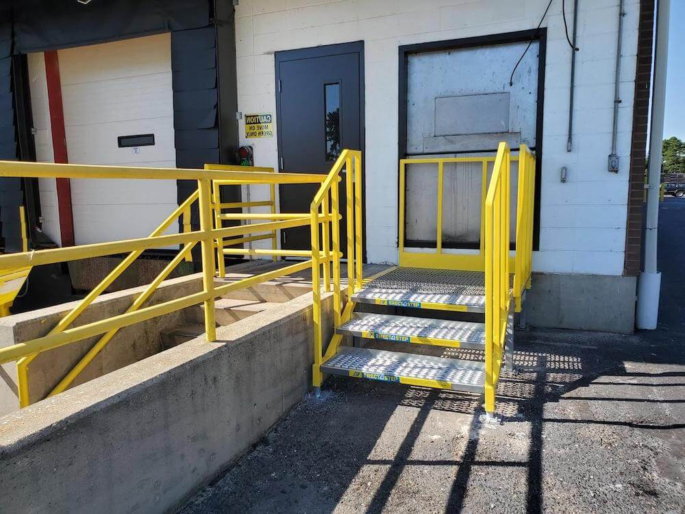 Portable Metal Stairs Installation